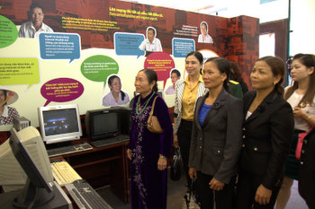 "Opening Ceremony of the Exhibition ""Women and the Internet: Opportunities and Change"""