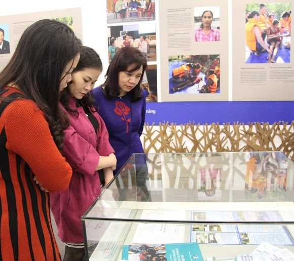 "The exhibition ""Stories of Resilence: Women living with disasters"""