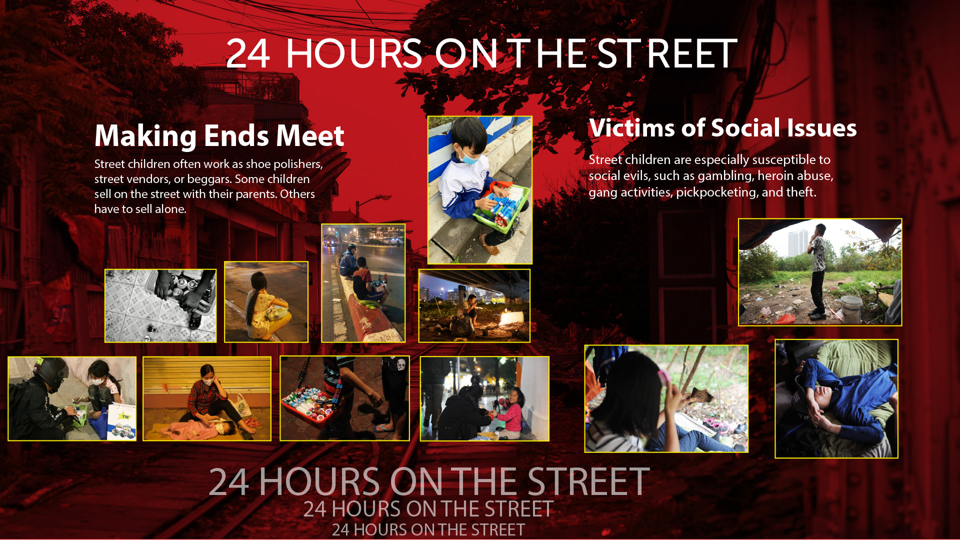 24 hours on the street